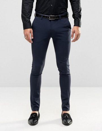 Super Skinny Tuxedo Suit In Navy